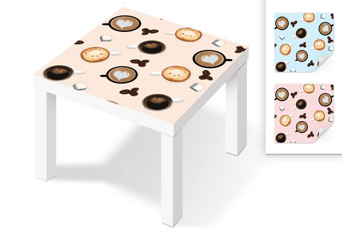 klebefolie teddy cup f r beistelltische wall. Black Bedroom Furniture Sets. Home Design Ideas