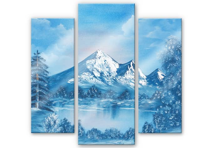 Acrylglasbild Toetzke - Alpsee in den Bergen (3-teilig)