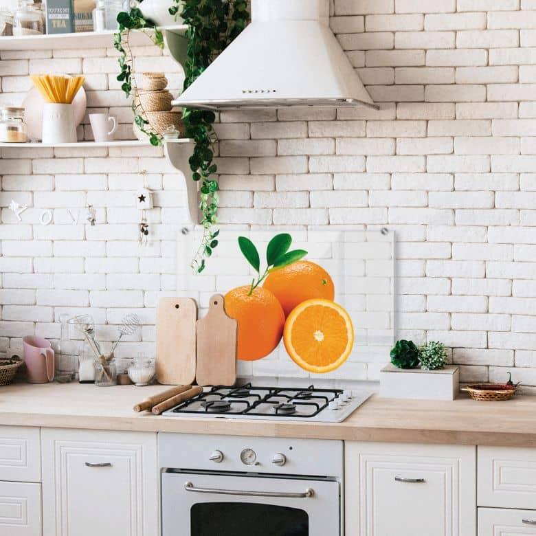 Spritzschutz - Oranges - Transparent