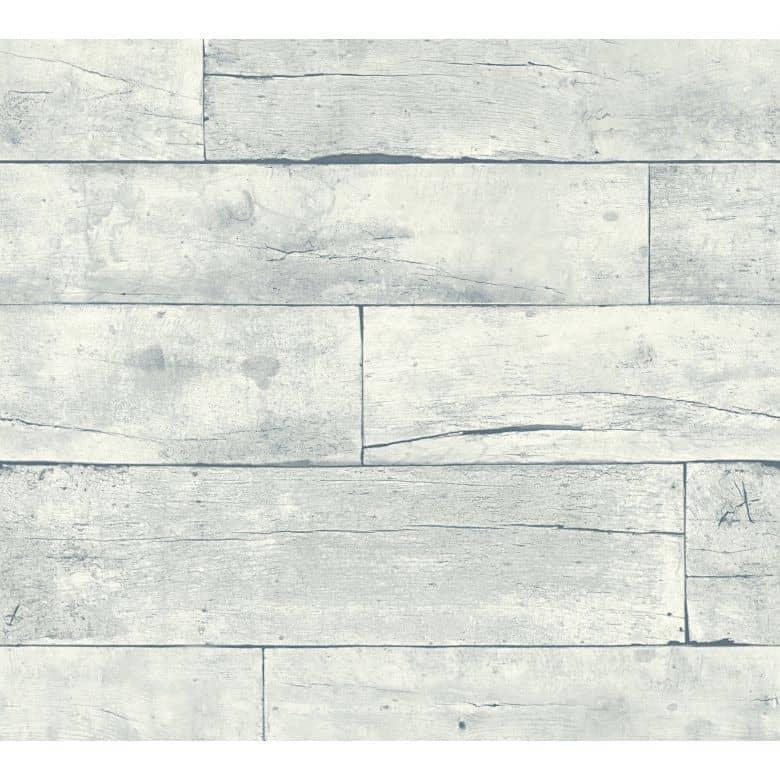 Trendwalls Vliestapete in Vintage Holz Optik maritim hellgrau