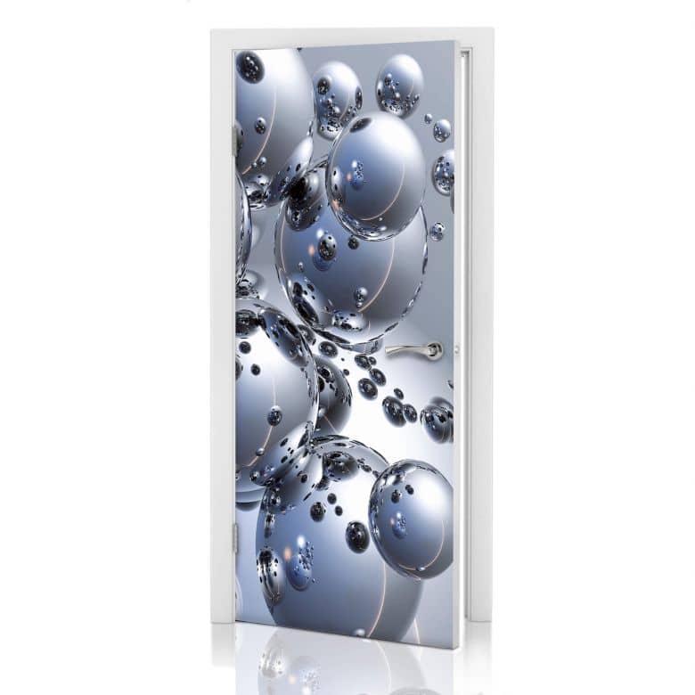 Türdesign - 3D Silber-Kugeln