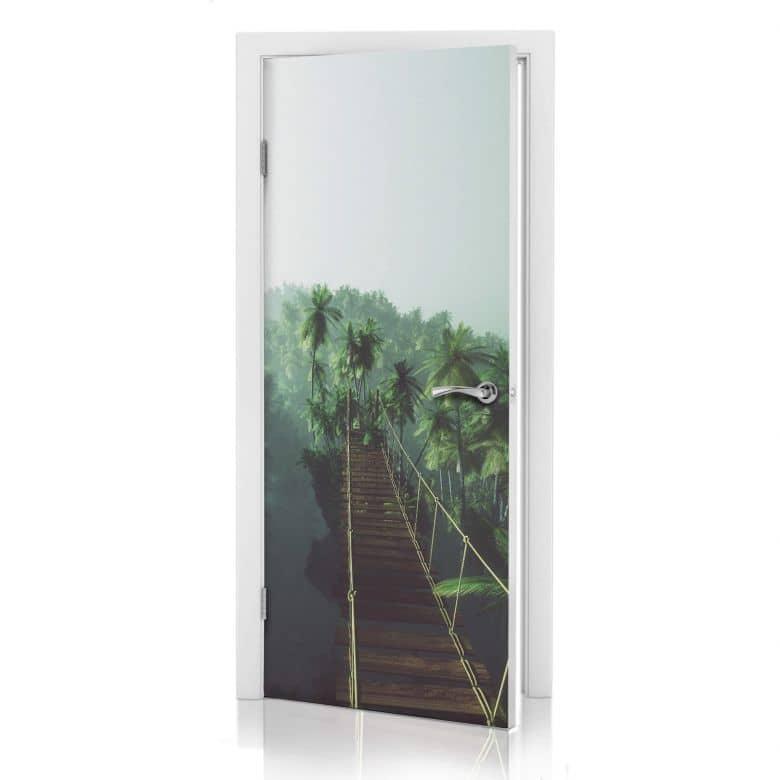 Türdesign Hängebrücke im Dschungel