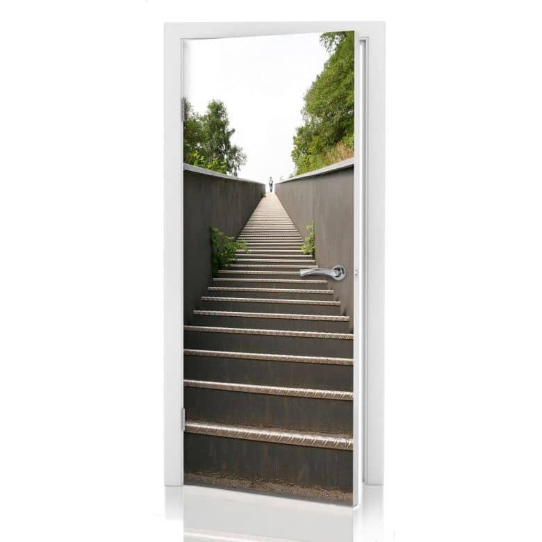 Door decor: Stairs to heaven
