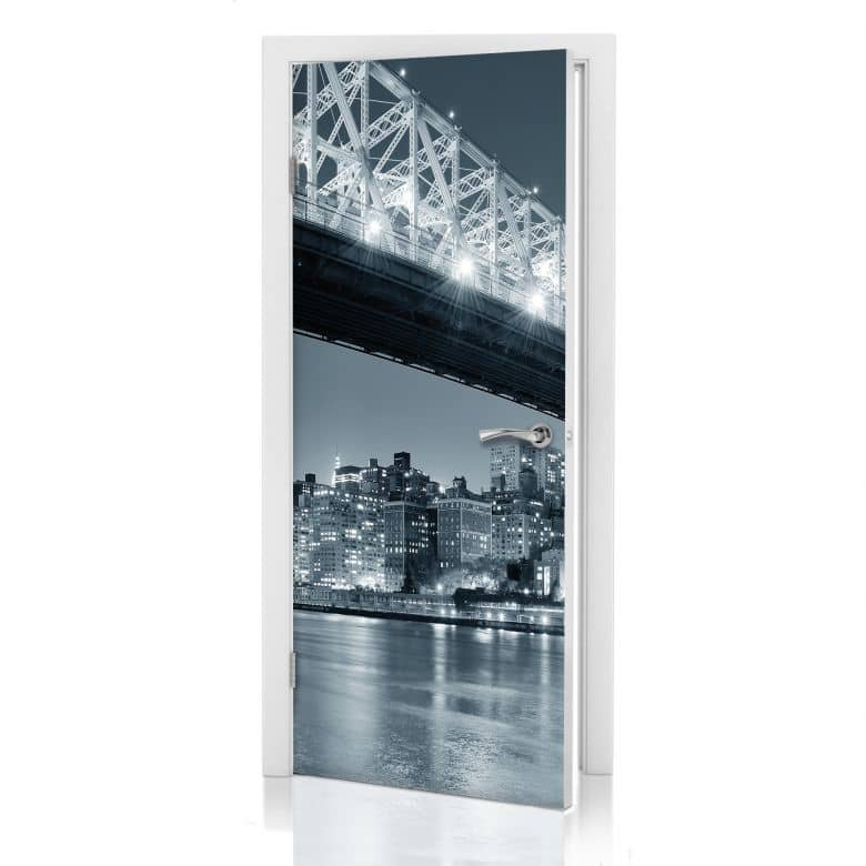 T design new york at night 3 stylische t rdeko f r zuhause wall - Stylische wandfarben ...