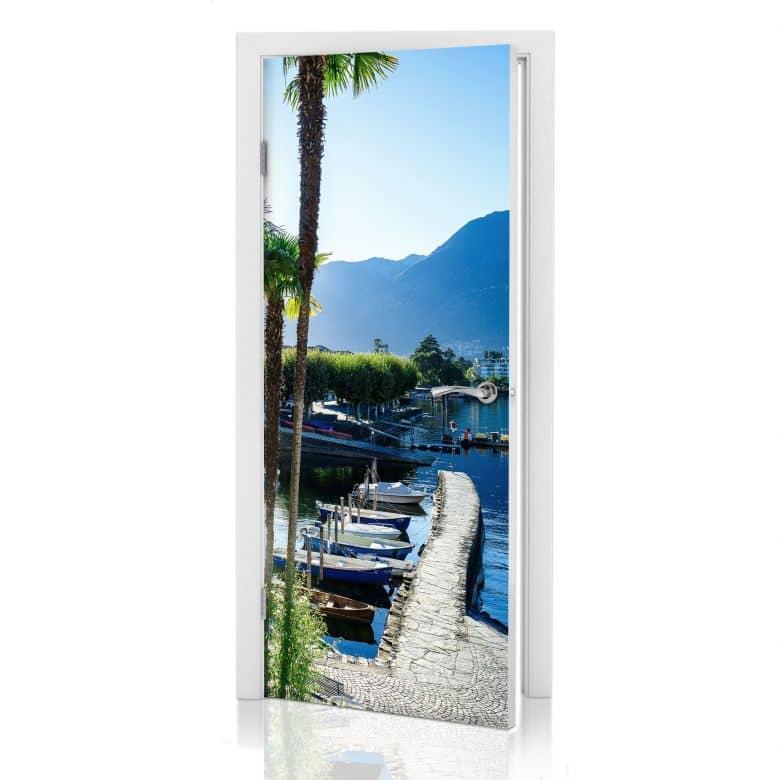 Türdesign Hafen am Lago Maggiore