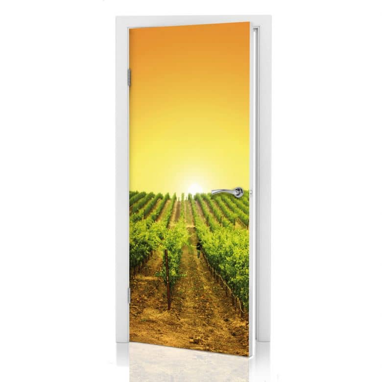 Door Décor - Vineyard Sunset