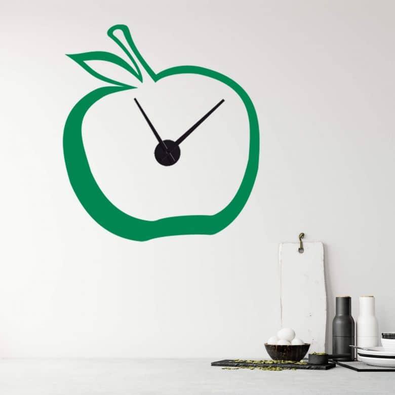 Adesivo murale - orologio-mela