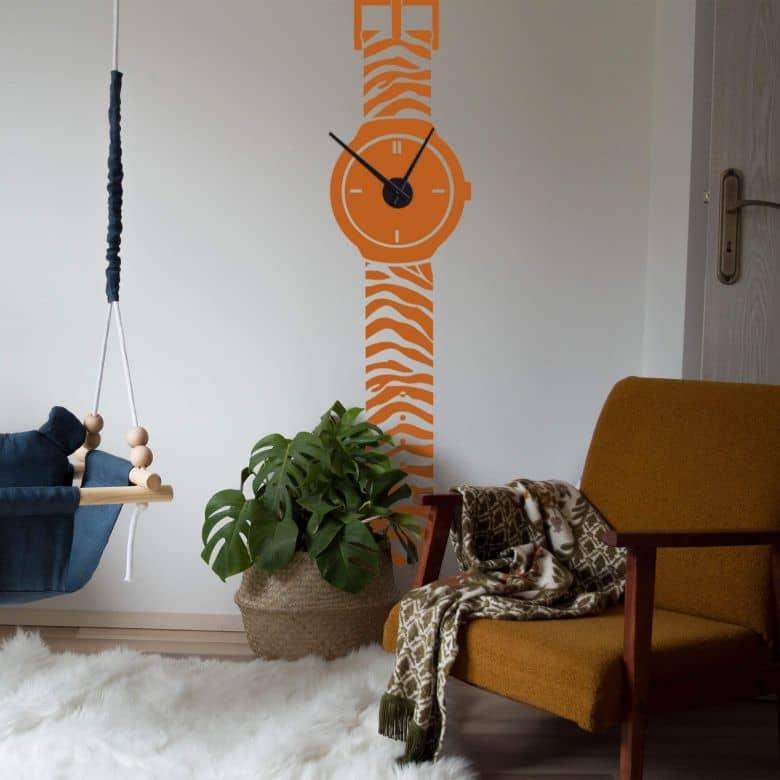 Sticker mural - Montre-bracelet tigrée