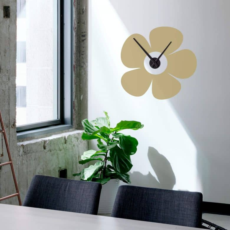 Flower Wall sticker + Clock