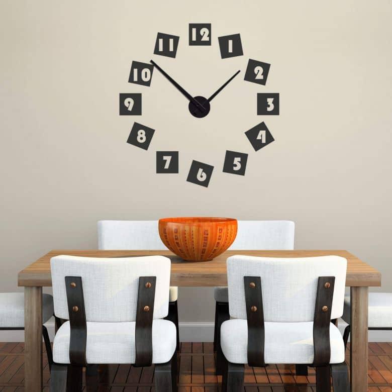 Digits Wall sticker + Clock