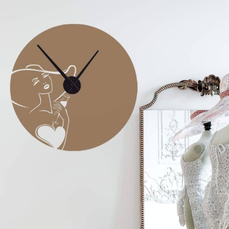 Adesivo murale - orologio diva