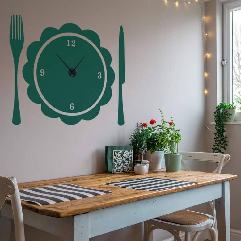 Set Table Wall sticker + Clock