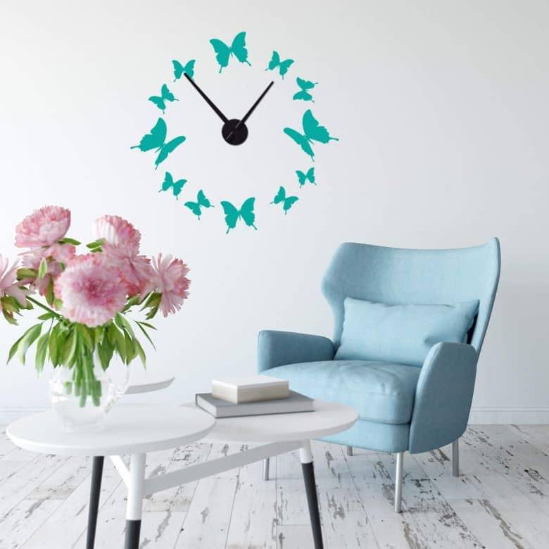 Butterflies Wall sticker + Clock