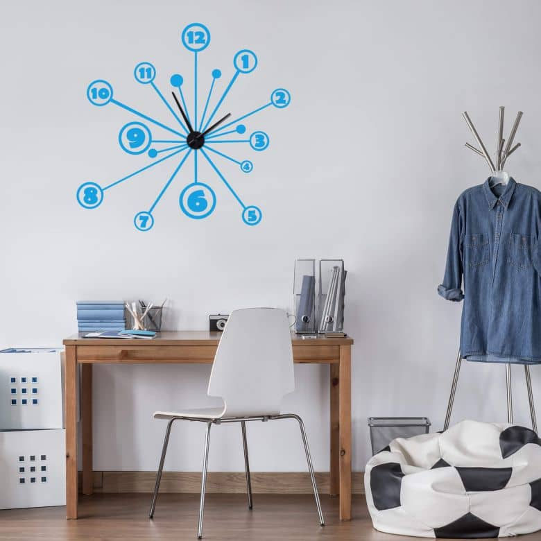 Spin Wall sticker + Clock