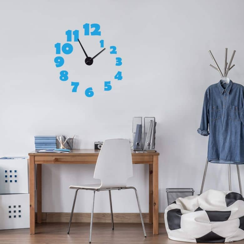 Spiral Wall sticker + Clock