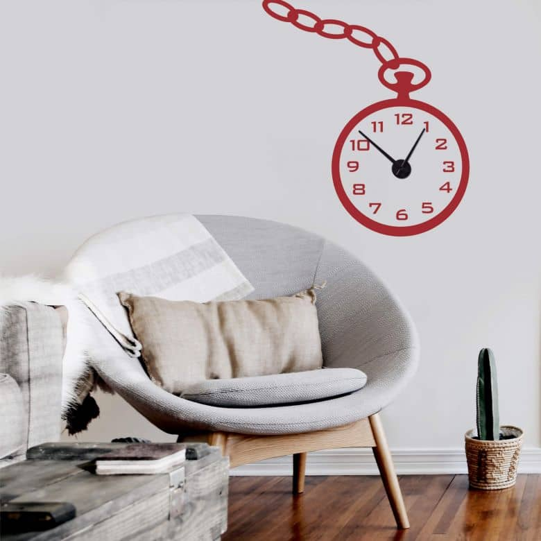 Pocket Watch Wall sticker + Clock