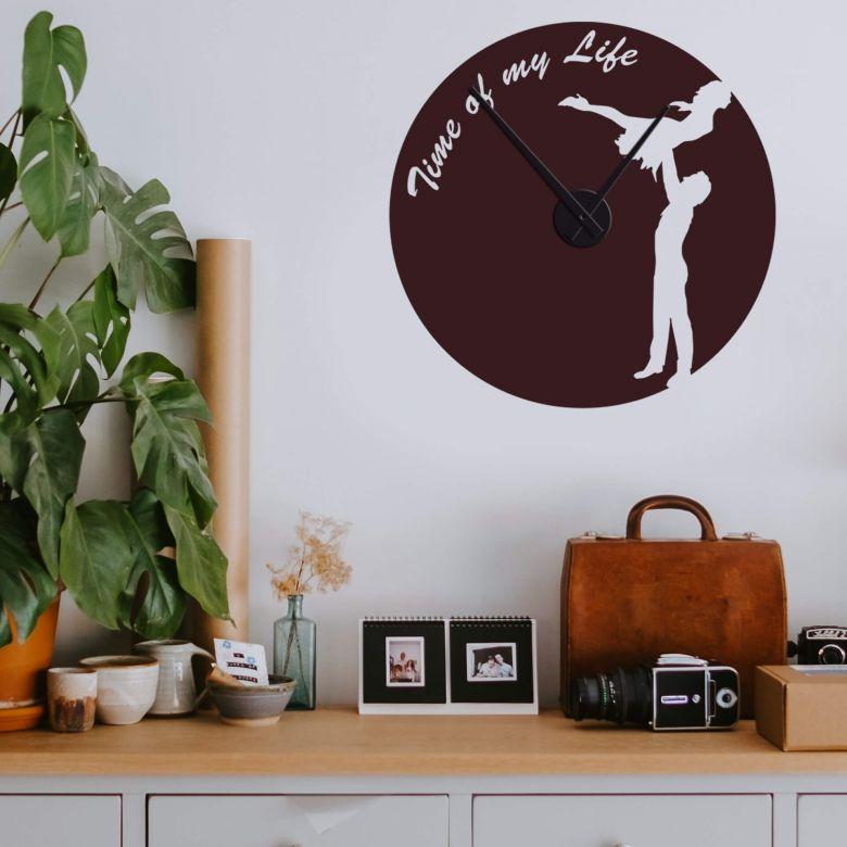 "Adesivo murale - orologio ""Time of my life"""