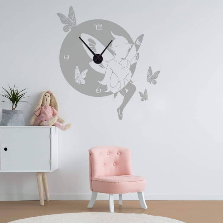 Elf Wall sticker + Clock