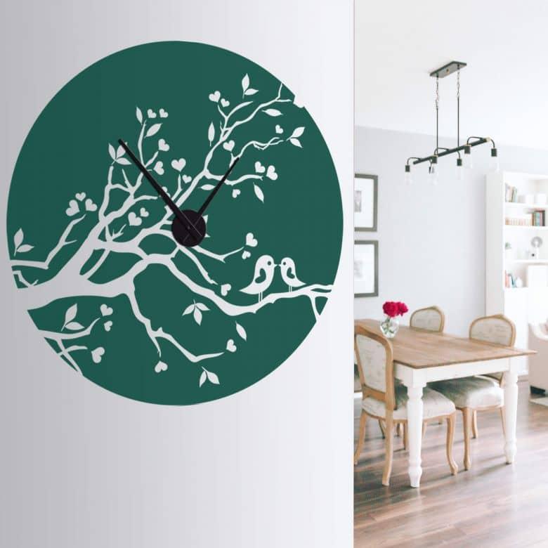Loving Sparrows Wall sticker + Clock