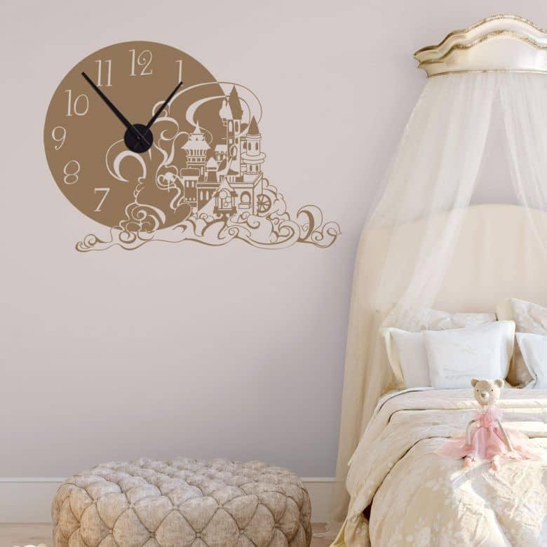 Sticker mural - Horloge Château des rêves