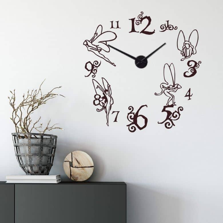 Adesivo murale - orologio bosco delle fate