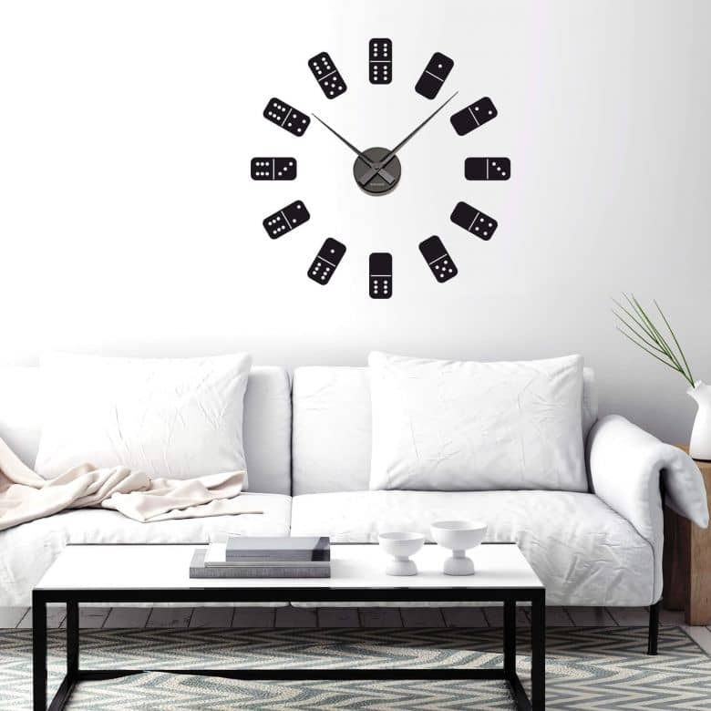 Dominoes Wall sticker + Clock