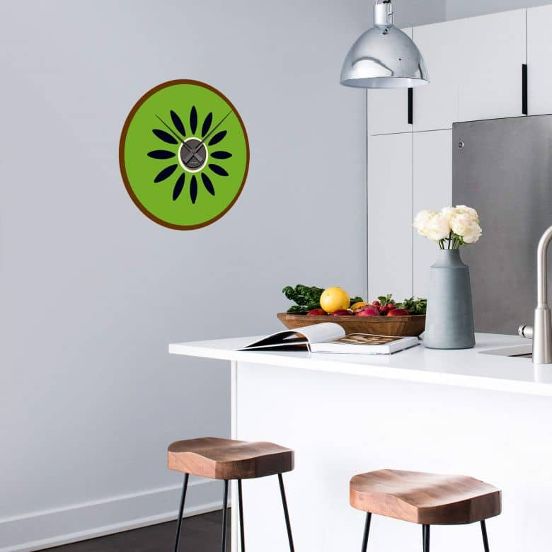 Kiwi Wall sticker + Clock