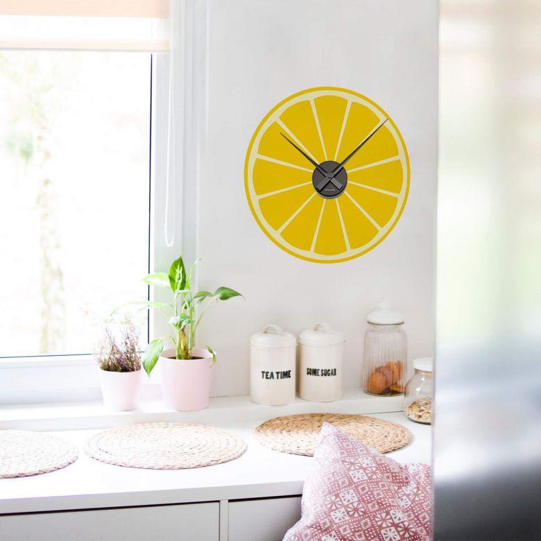 Adesivo murale - orologio limone