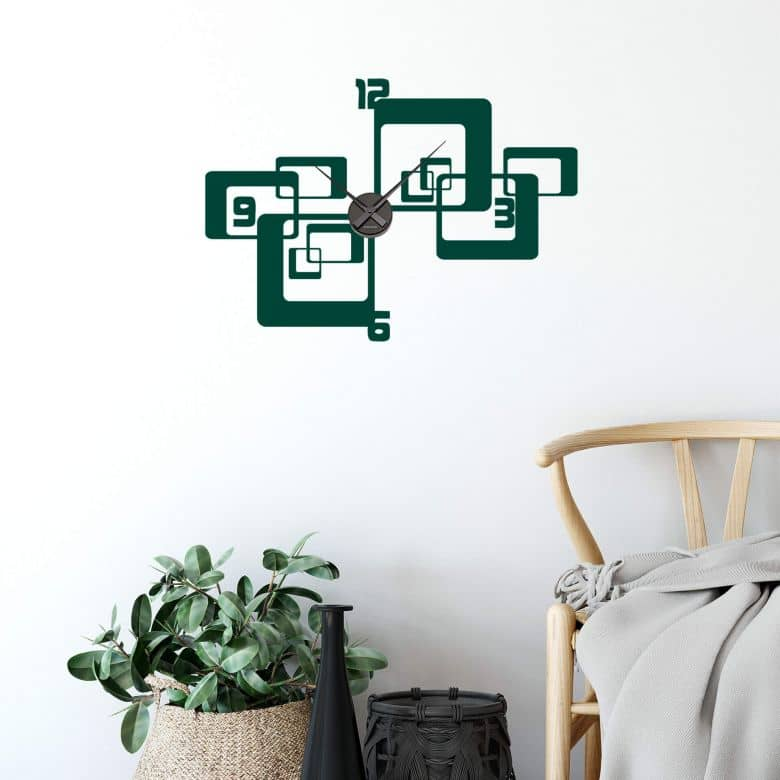 Retro 1 Wall sticker + Clock