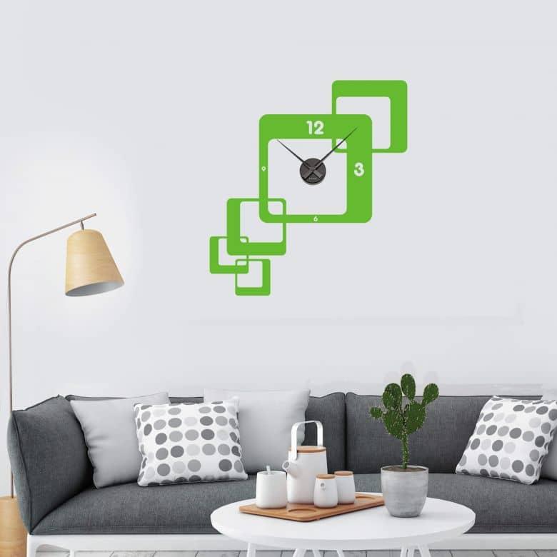 Retro 2 Wall sticker + Clock