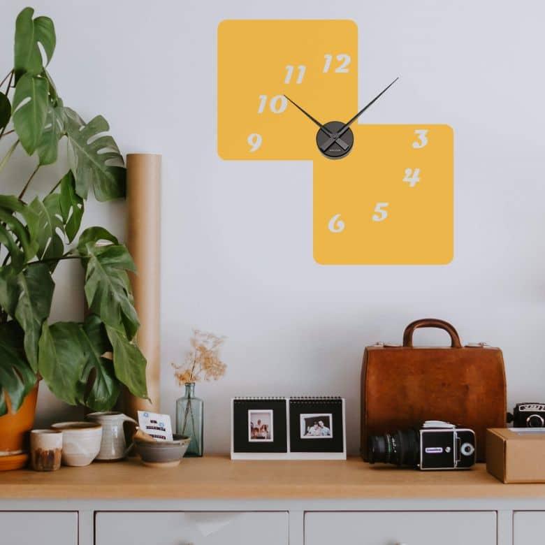 Retro 3 Wall sticker + Clock