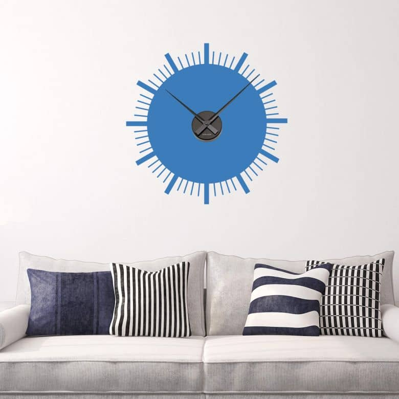 Retro Wall sticker + Clock