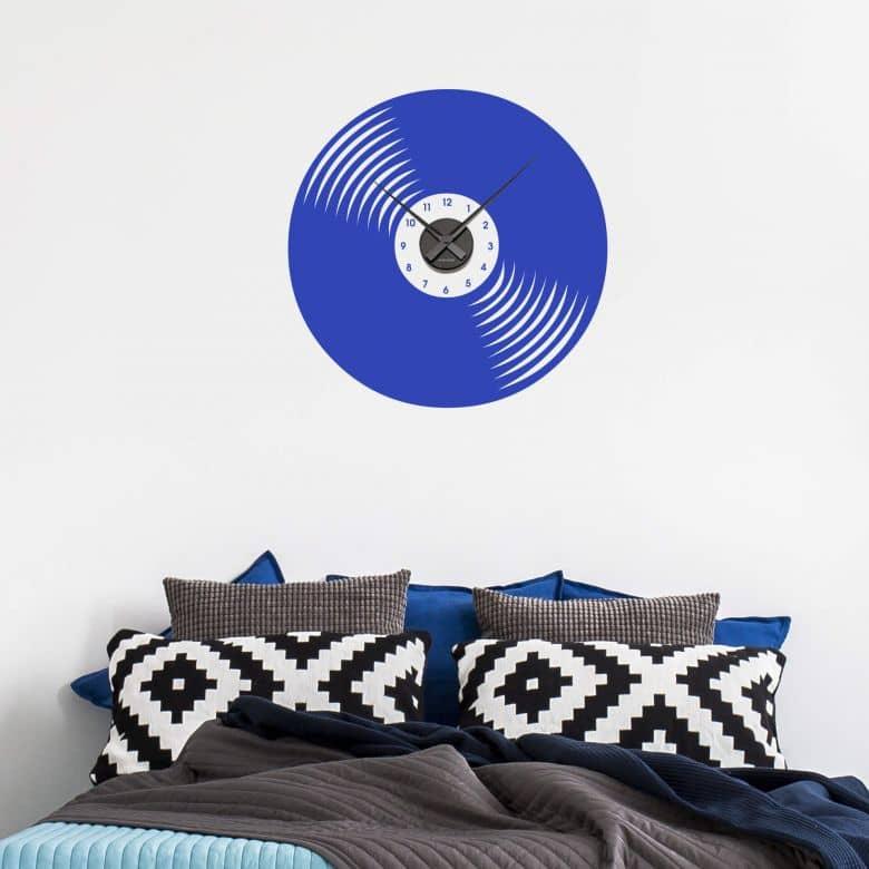 Sticker mural - Horloge Disque vinyle