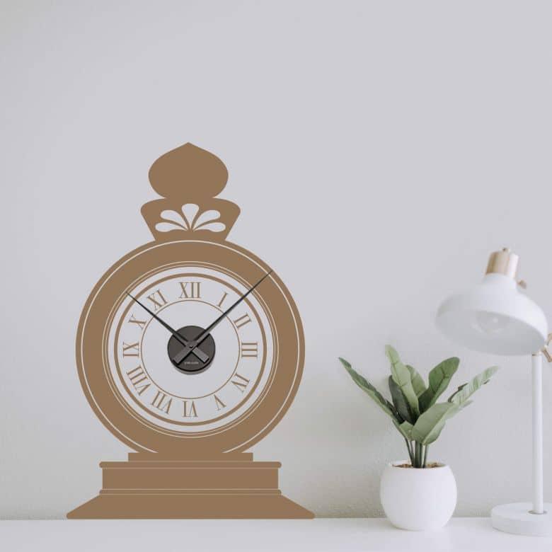 Standing Clock Wall sticker + Clock