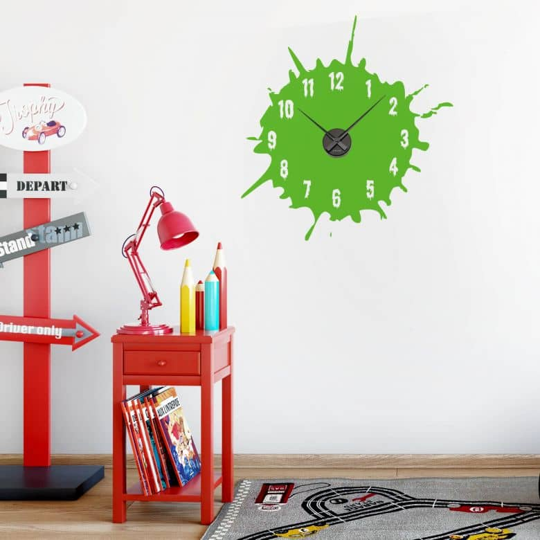 Inkblot Wall sticker + Clock