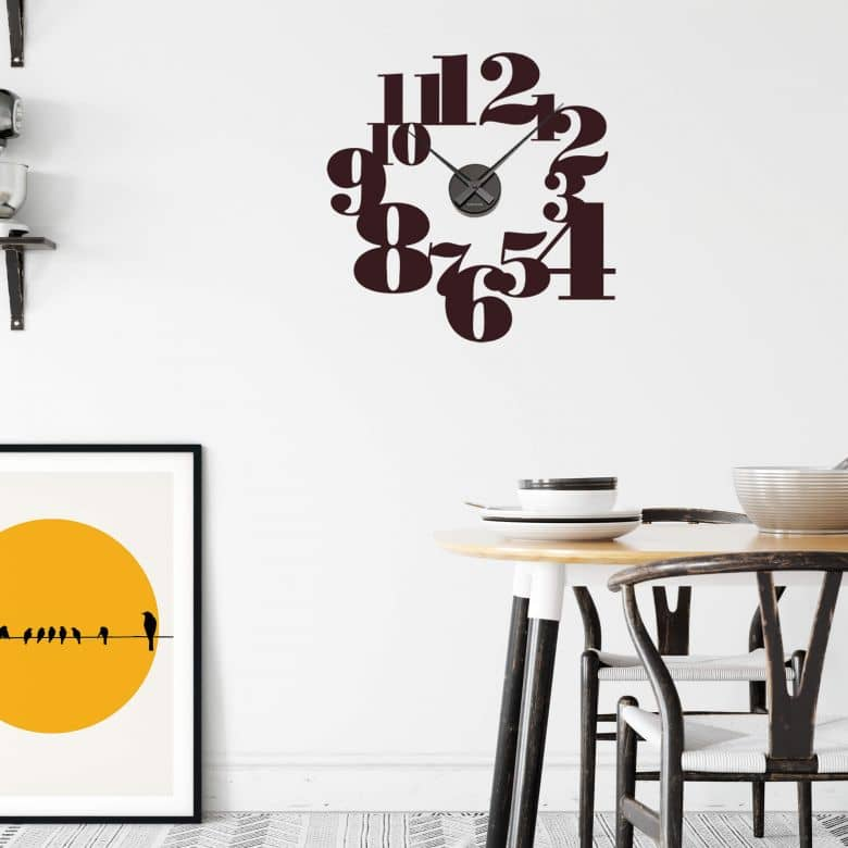 Typography Positive Wall sticker + Clock
