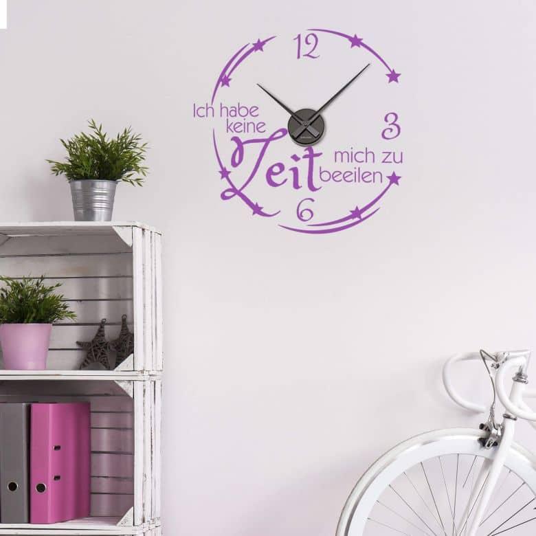 wanduhr ich habe keine zeit wall. Black Bedroom Furniture Sets. Home Design Ideas