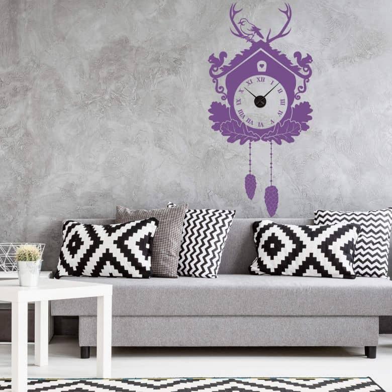 Cuckoo Wall sticker + Clock