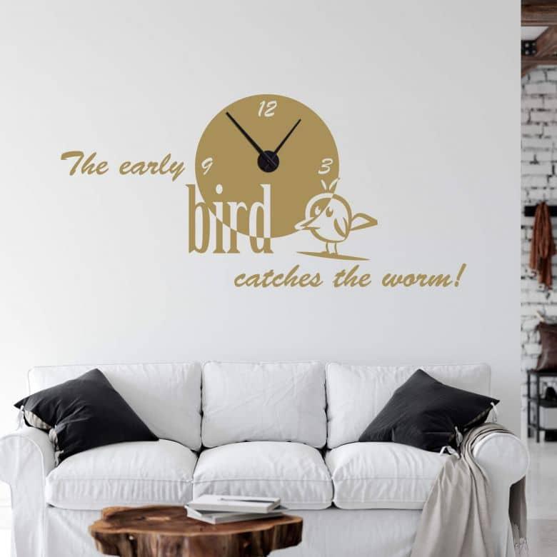 The early bird... Wall sticker + Clock