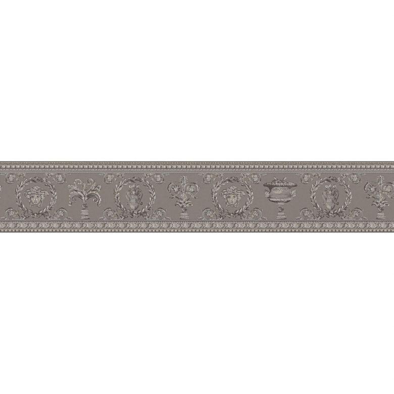 Versace wallpaper border Vanitas beige, grey, metallic