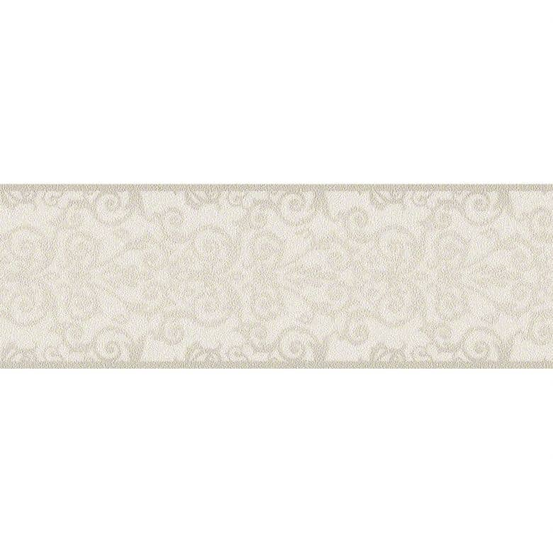 Versace wallpaper border Herald grey, metallic, white