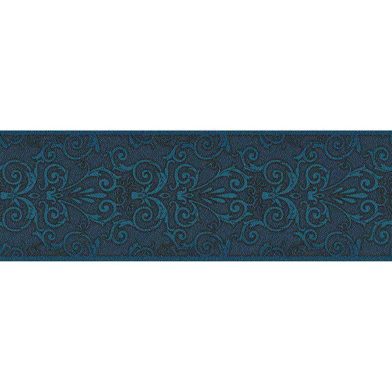 Versace wallpaper border Herald blue