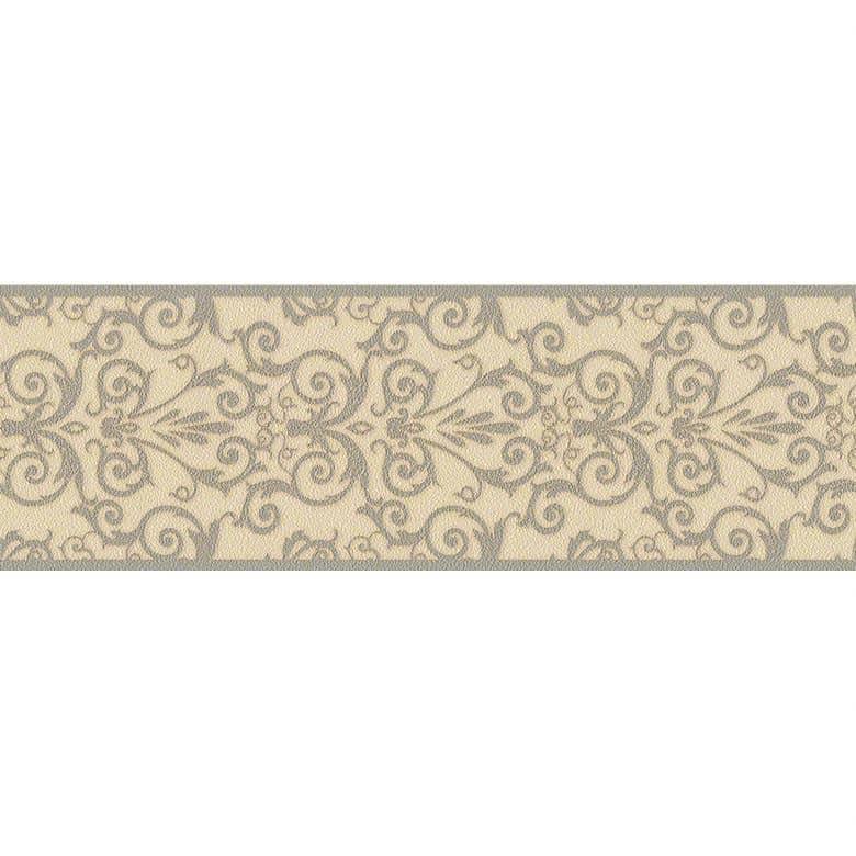 Versace wallpaper border Herald cream, grey, metallic