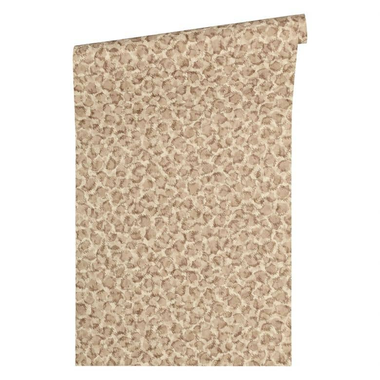 Versace Wallpaper Non Woven Wallpaper Vasmara Beige, Brown, Metallic