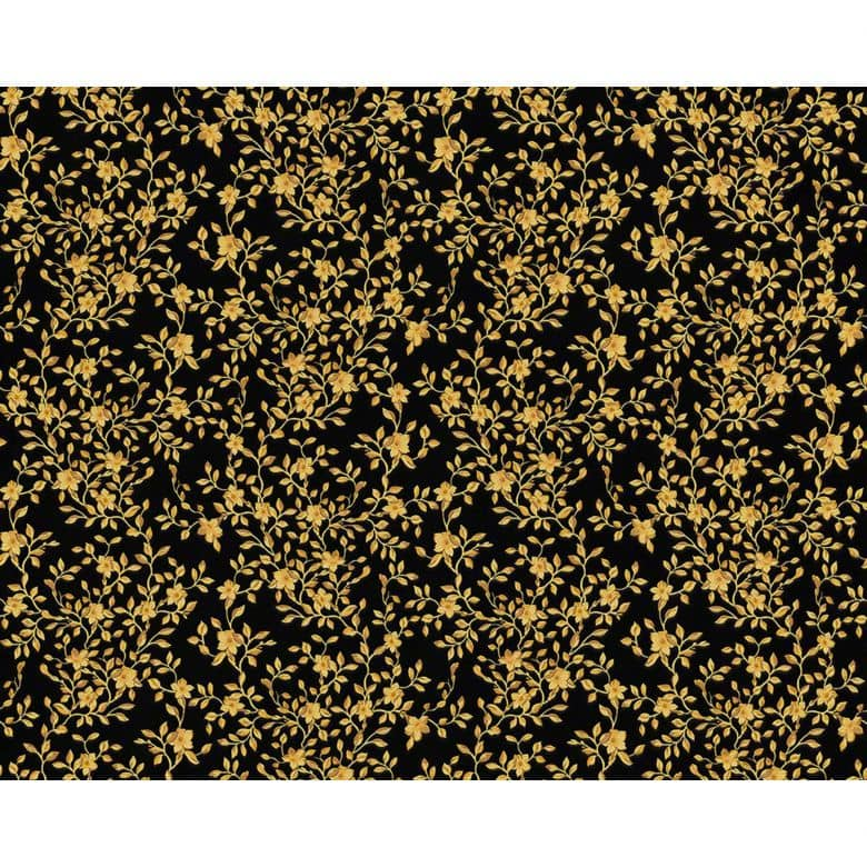 Mustertapete Versace Wallpaper Tapete Barocco Flowers Metallic, Schwarz
