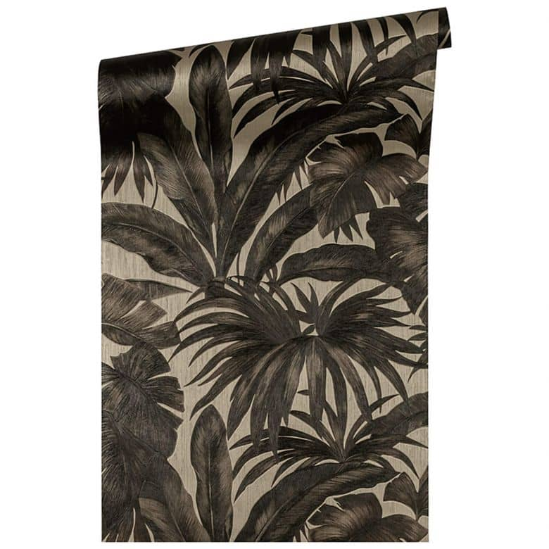 Versace wallpaper non-woven wallpaper Giungla brown, metallic