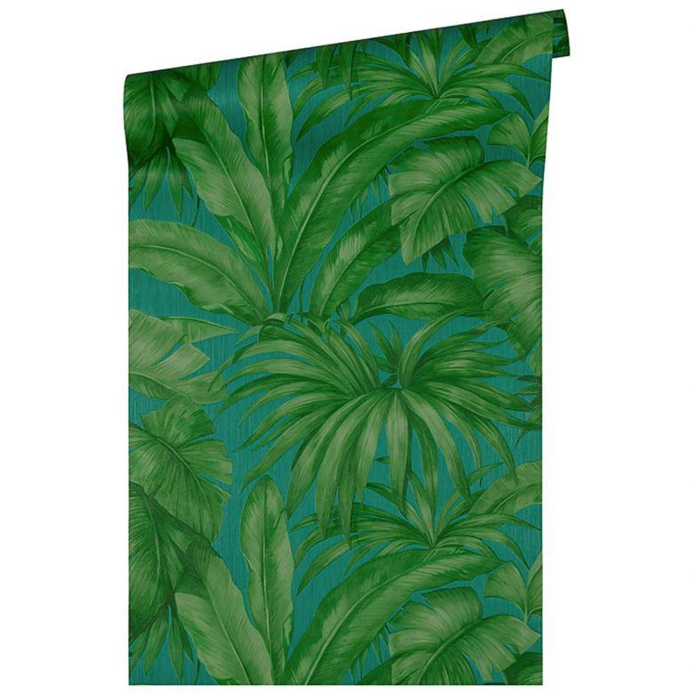 Versace Home Carta da Parati Giungla  Blu, verde