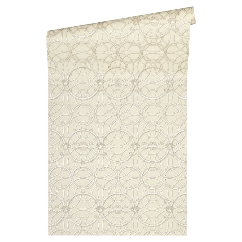 Versace Papier peint de designer -  Crème, or