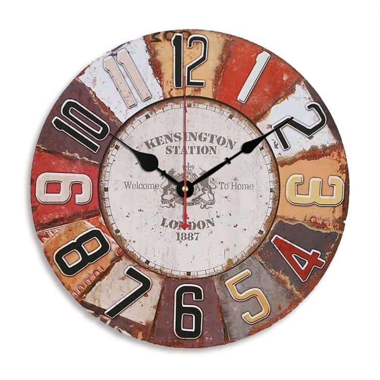 Orologio da parete in legno - Shabby chic Ø40 cm