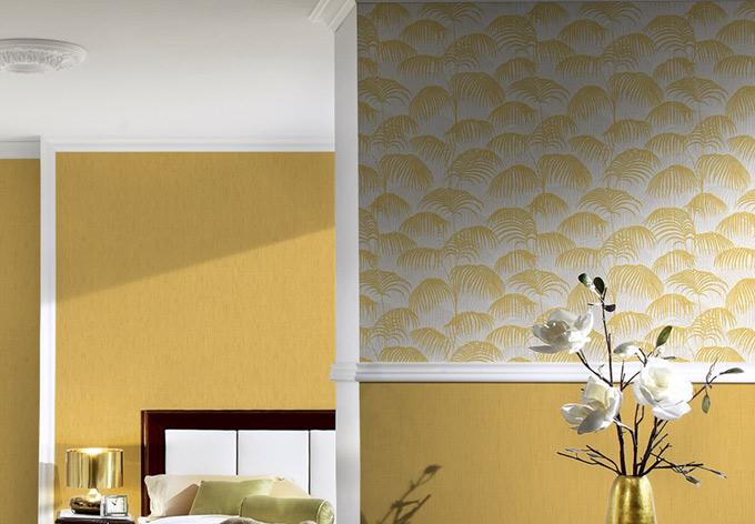 Architects Paper Mustertapete Textiltapete Tessuto 2 Gelb, Metallic, Weiß
